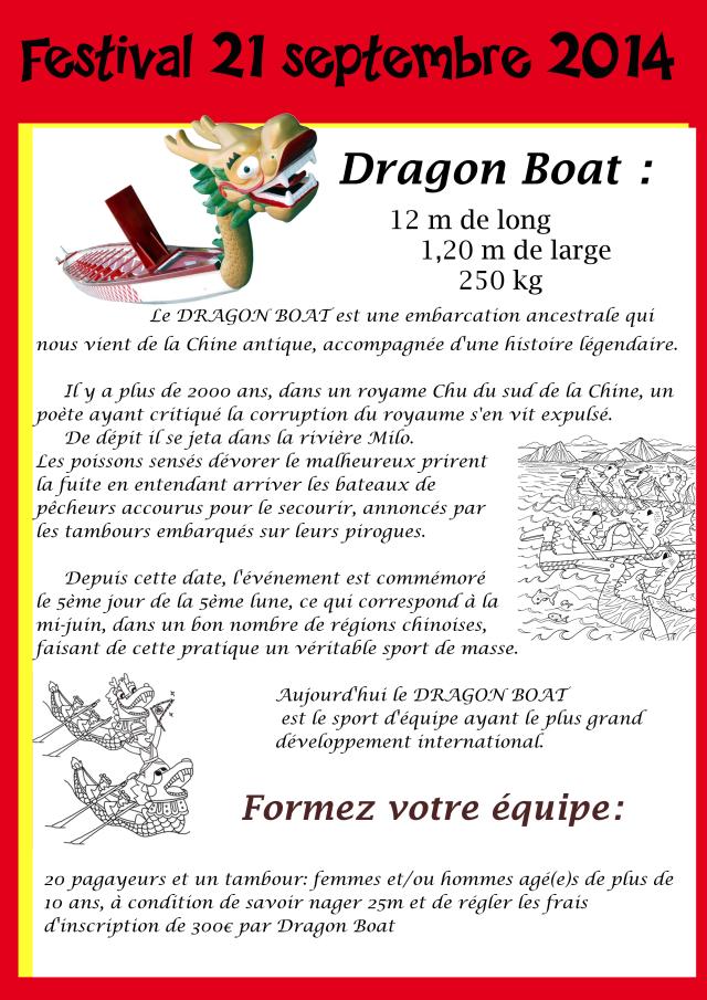 Présentation du Dragon Boat